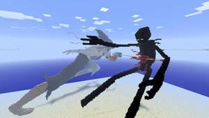 Minecraft - Samourai Endermen by Ludolik