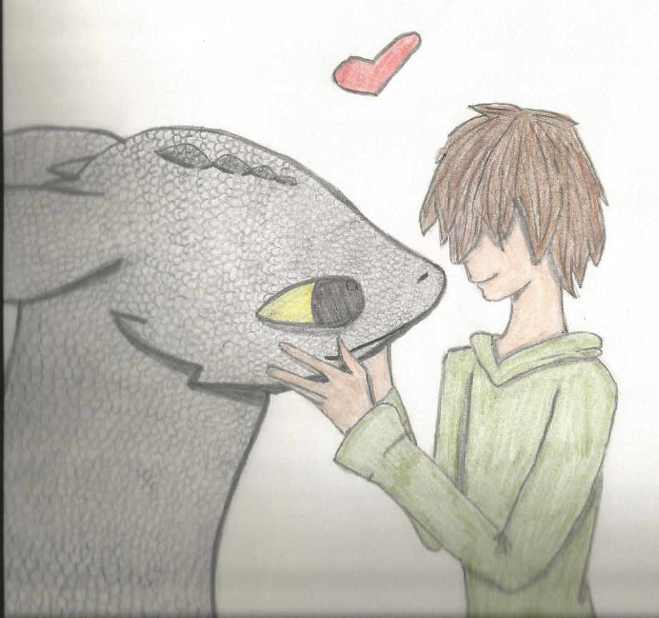 Toothless And Hiccup love by thisistheonlyme