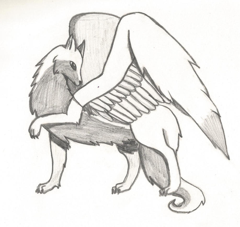 Wolf With Wings by thisistheonlyme