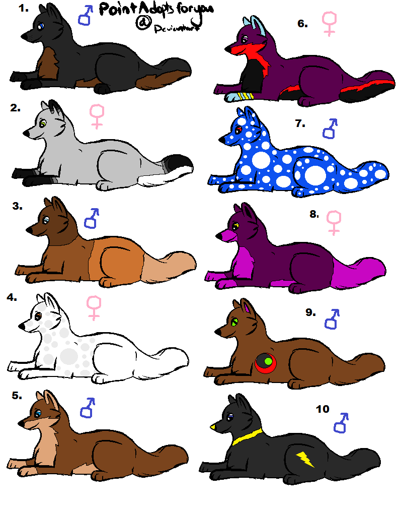 wolf adoptables by thisistheonlyme