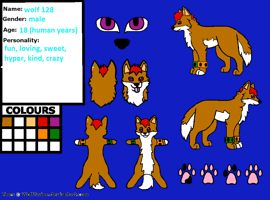 Wolf 128 reference sheet by thisistheonlyme