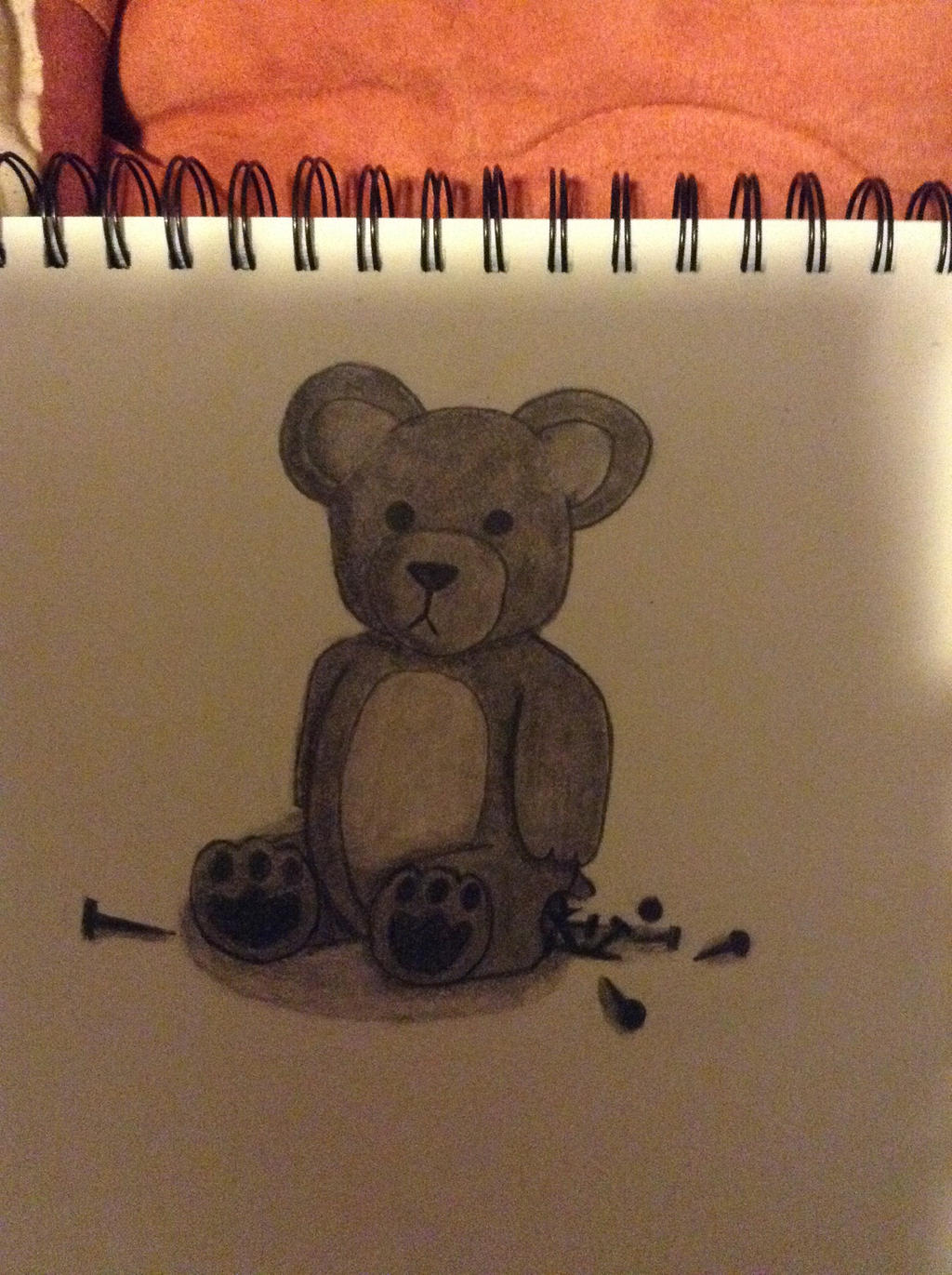 Teddy bear of nails by thisistheonlyme