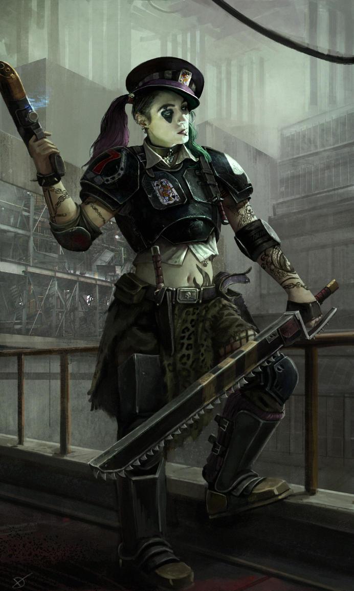 7TH Necromunda colonel by DavidAP