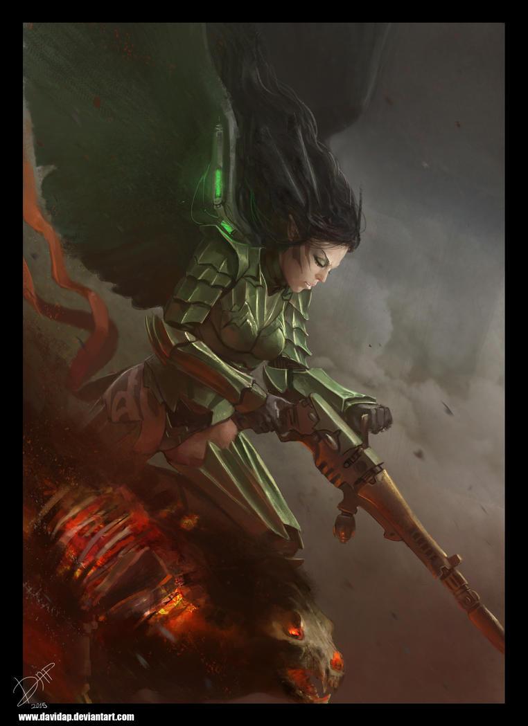 Eldar scourge by DavidAP