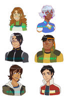 Team Voltron Hair Swap by NinjAubrey