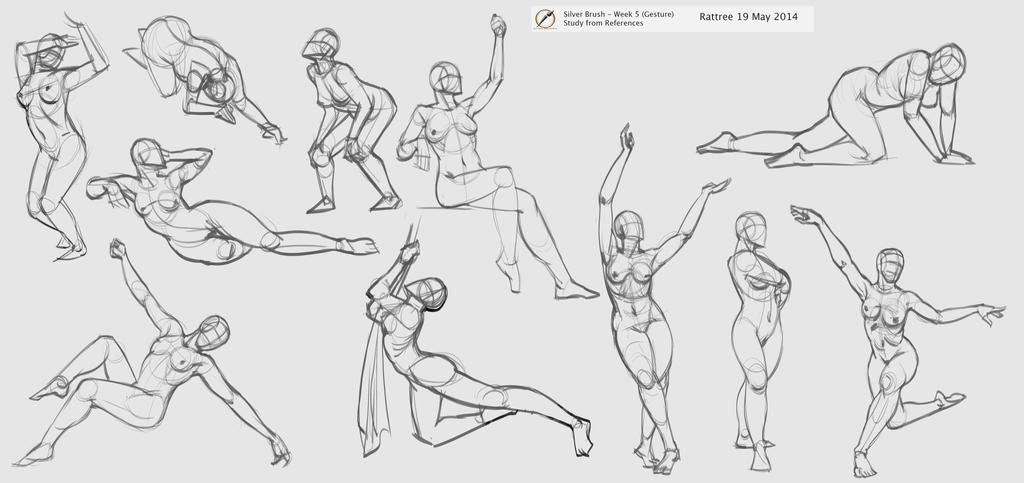 more figure drawing poses by rattree