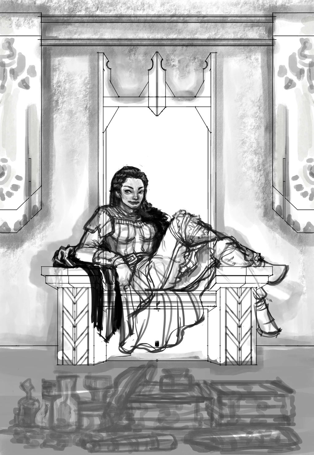 Throne Tribute WIP by rattree
