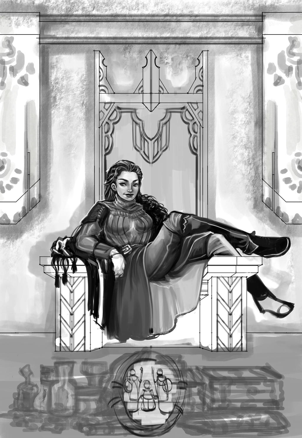 Throne Tribute WIP2 by rattree