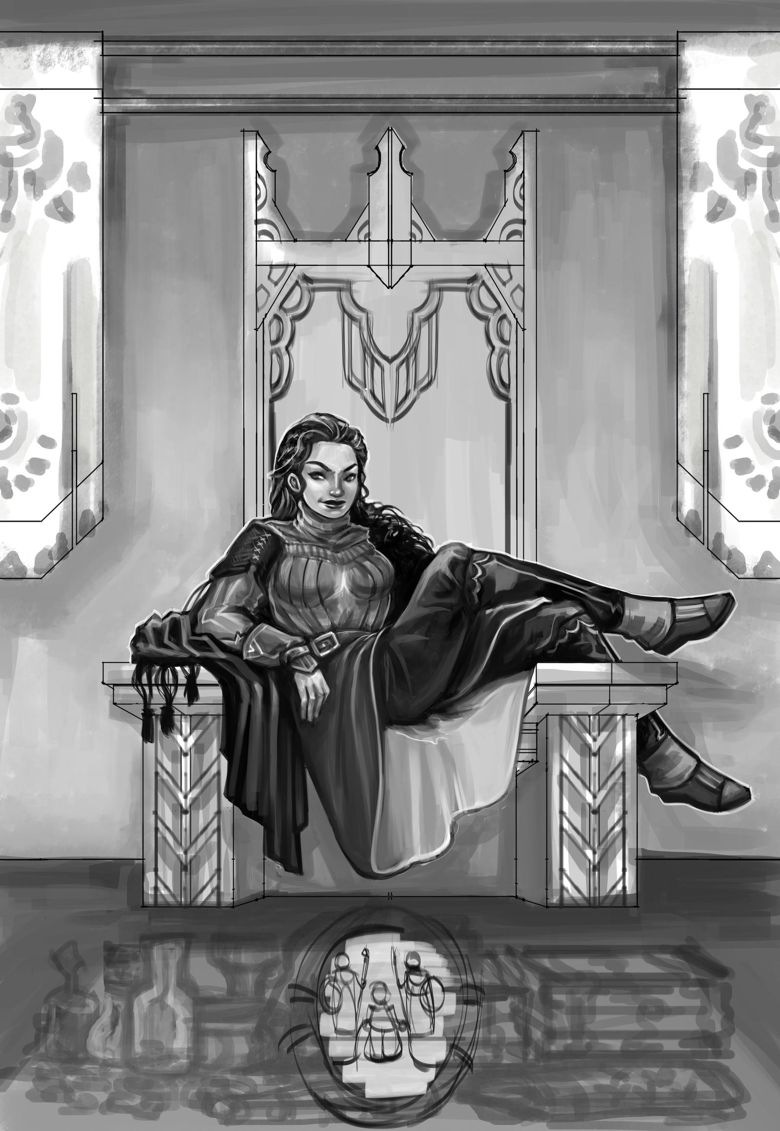 Throne Tribute WIP3 by rattree