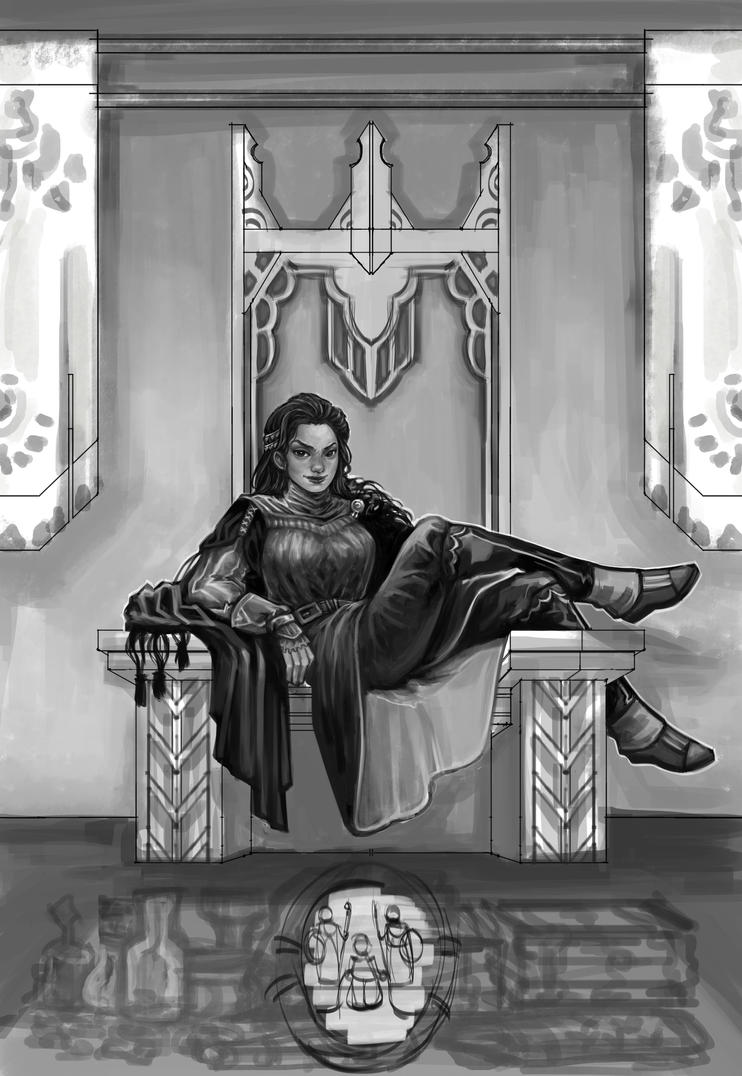 Throne Tribute WIP4 by rattree