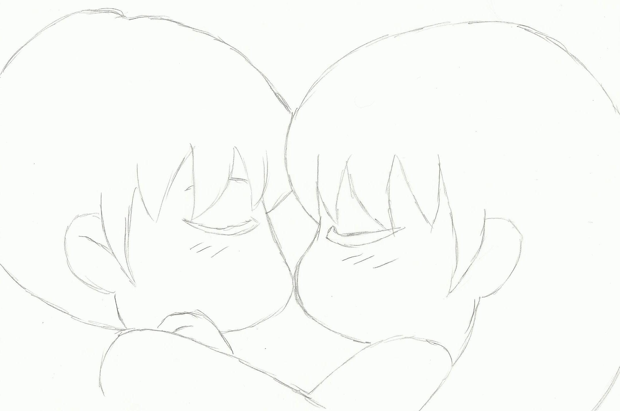 anime kissing base