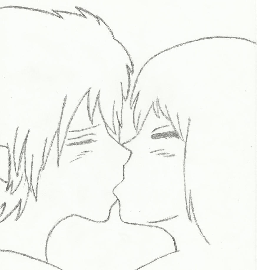 Easy Line Drawing Program : Older anime couple kissing by akatsakuforever on deviantart
