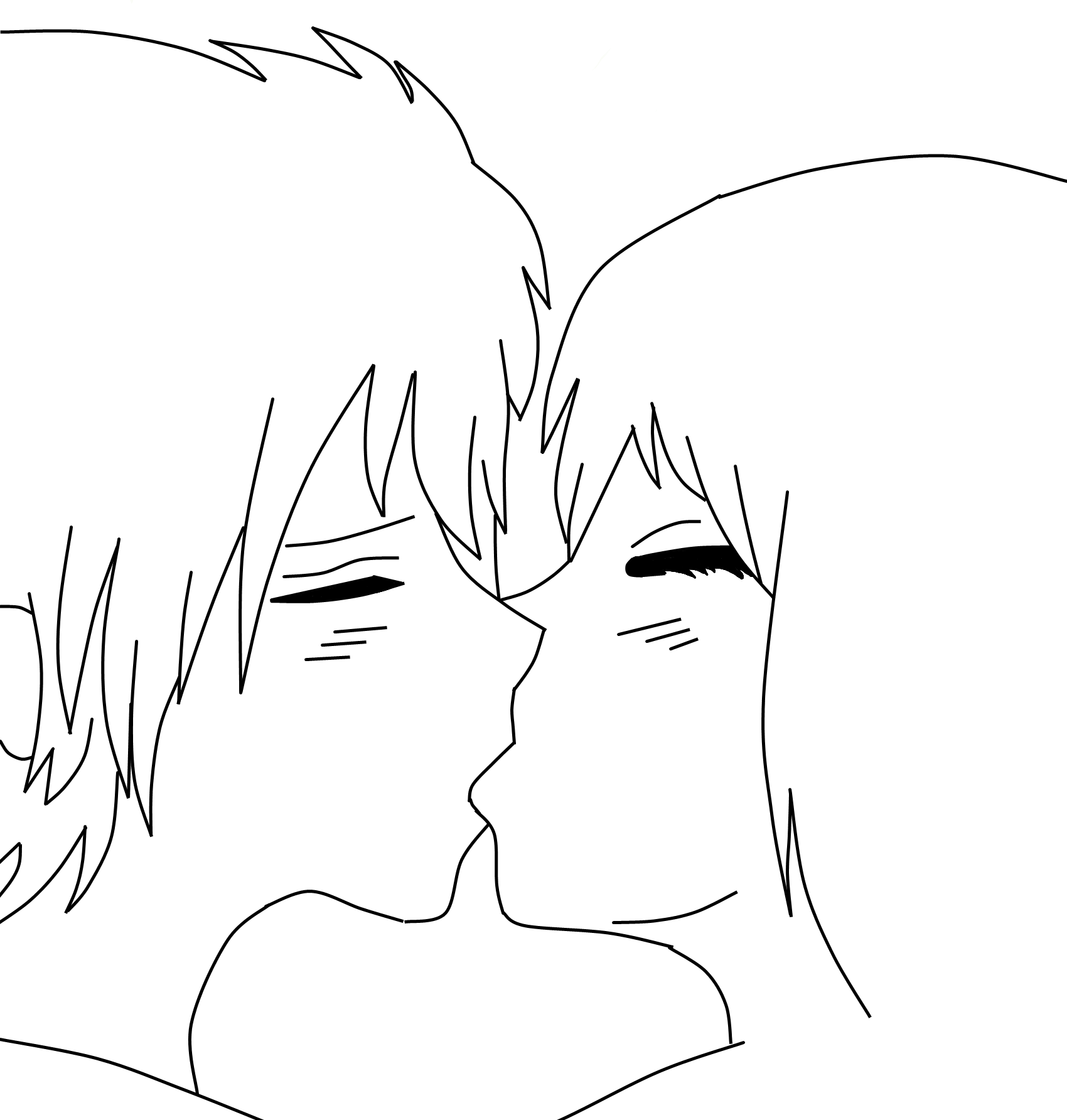 Kissing Couple Lineart/Base thingy by AkatSakuForever15 on ...