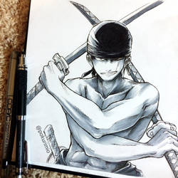 22. Roronoa Zoro from One Piece by PokuriMio