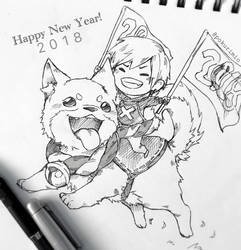 Happy New Year 2018!! by PokuriMio