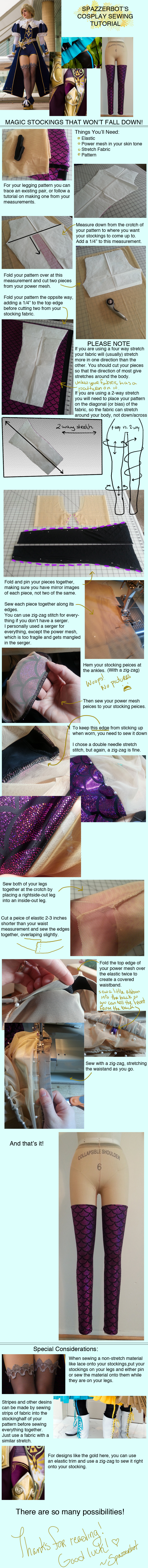 Cosplay Tutorial: Stockings That Won't Fall Down