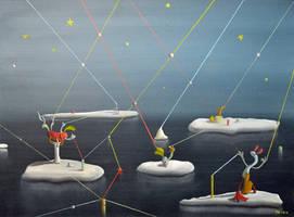 Yellow Stars by davegoldartgallery
