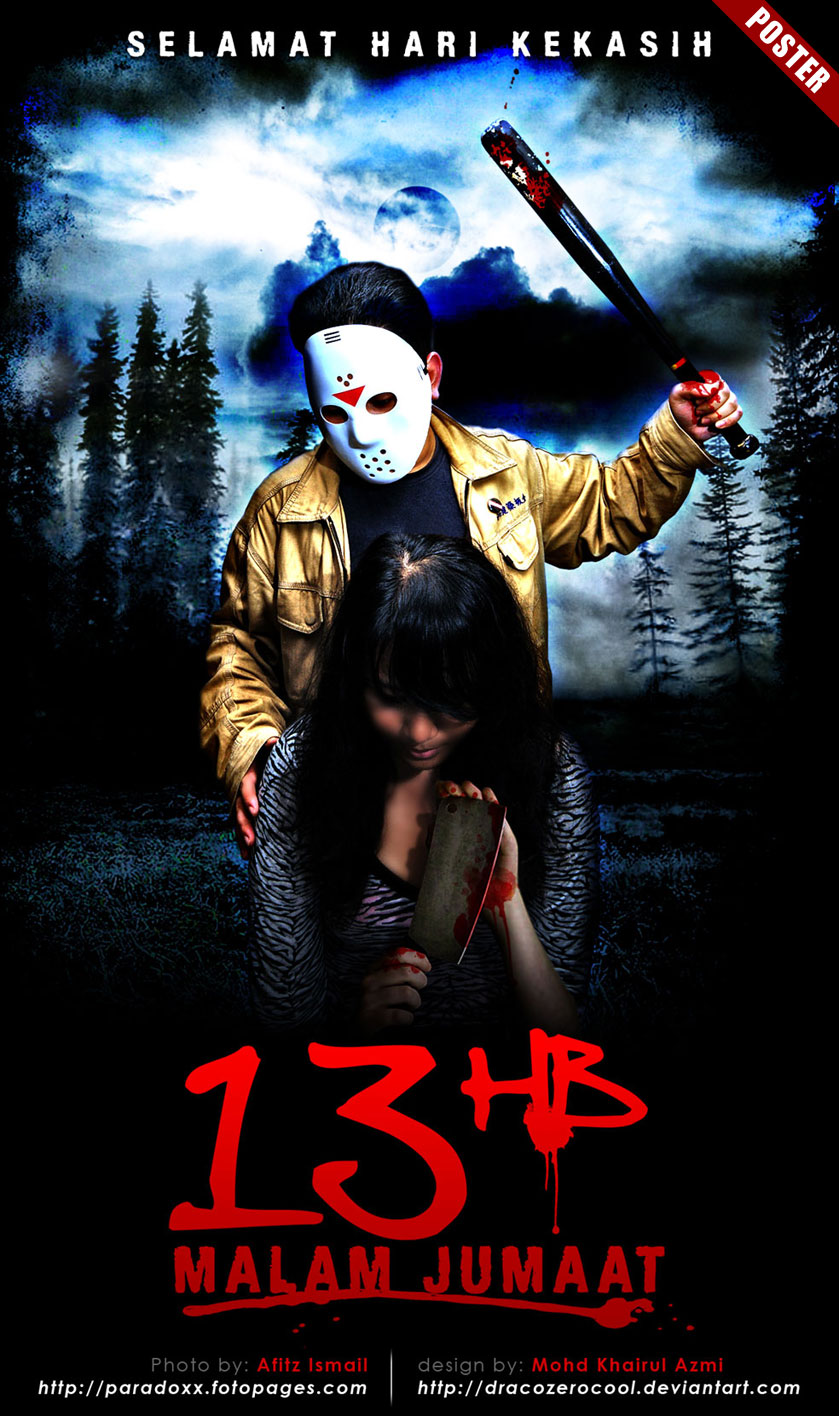 friday the 13th movie poster by dracozerocool on deviantart
