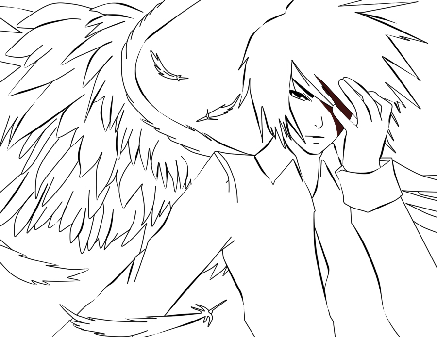 anime coloring pages angels - photo#2