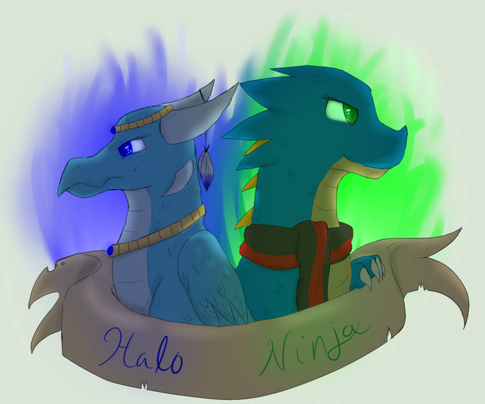 Blue dragons - badge thing whatever