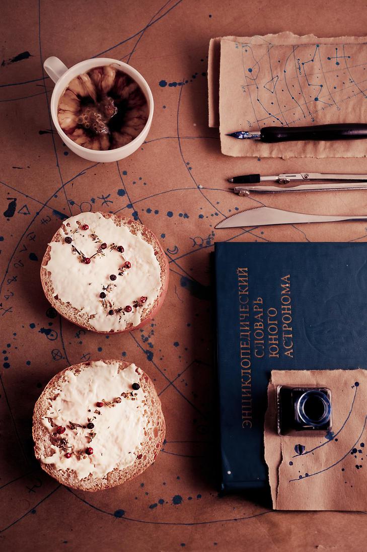 Astronomer's breakfast by dinabelenko