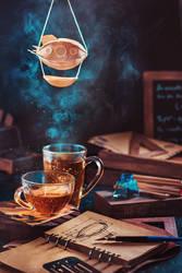 Steampunk tea (with a blimp)
