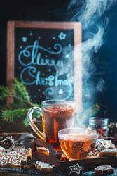 Cozy Christmas (with tea and cookies)