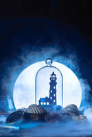 Lighthouse in moonlight by dinabelenko
