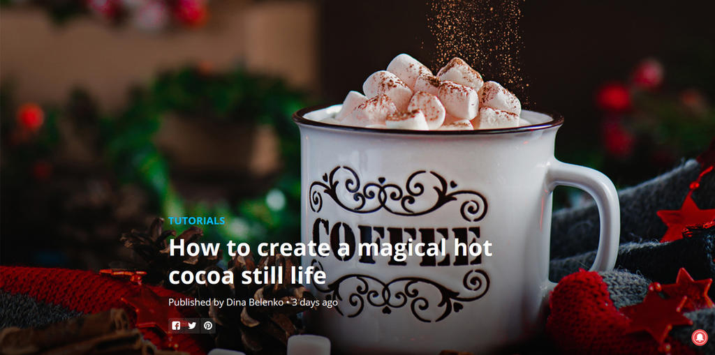 Hot cocoa tutorial by dinabelenko