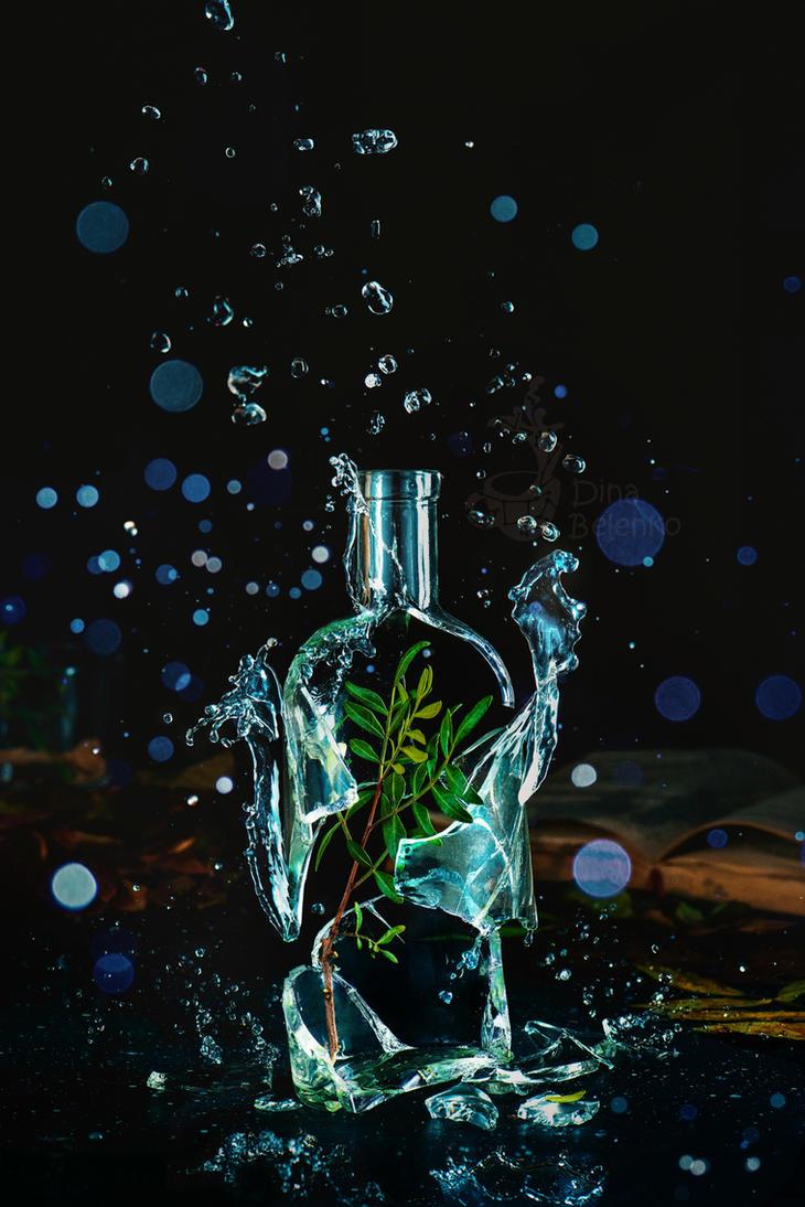 Bottle full of spring by dinabelenko