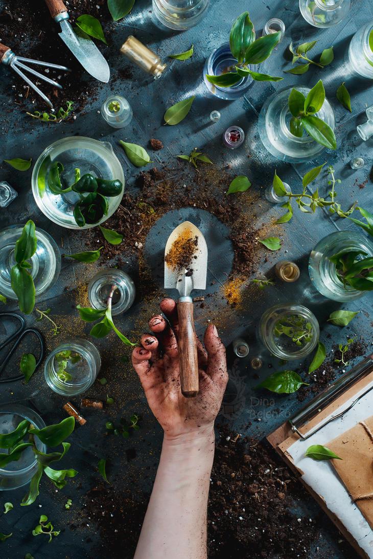 Garden Golden. Part 4 (Green tumb) by dinabelenko