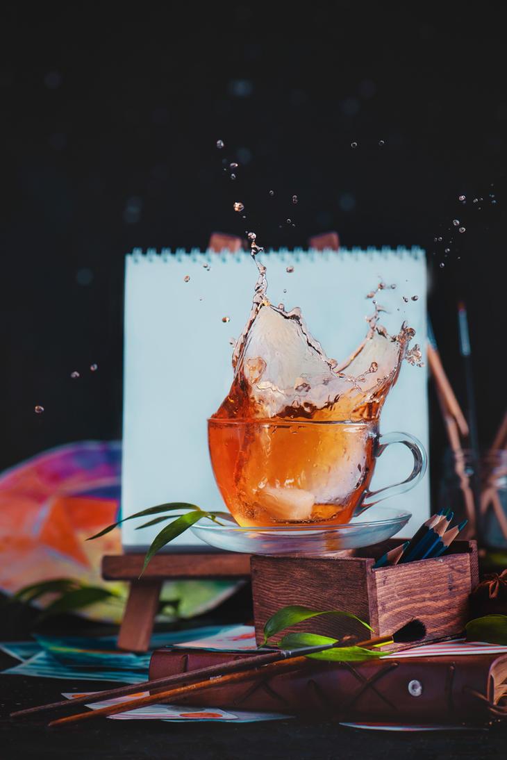Painting tea by dinabelenko