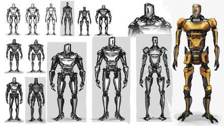 light robot design by JacekKuna