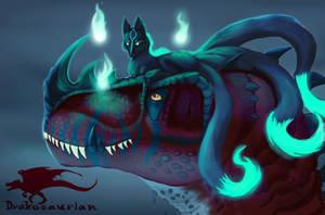 Drake And Kitsune by Drakesaurian