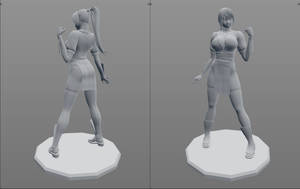 Kasumi - 3D Print Figurine Preview