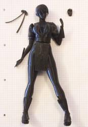 Kasumi - 3D Printing Figurine - WIP 02