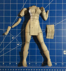 Kasumi - 3D Printing Figurine - WIP 03