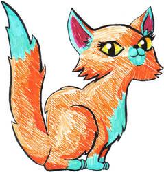 Furry kitty coloured