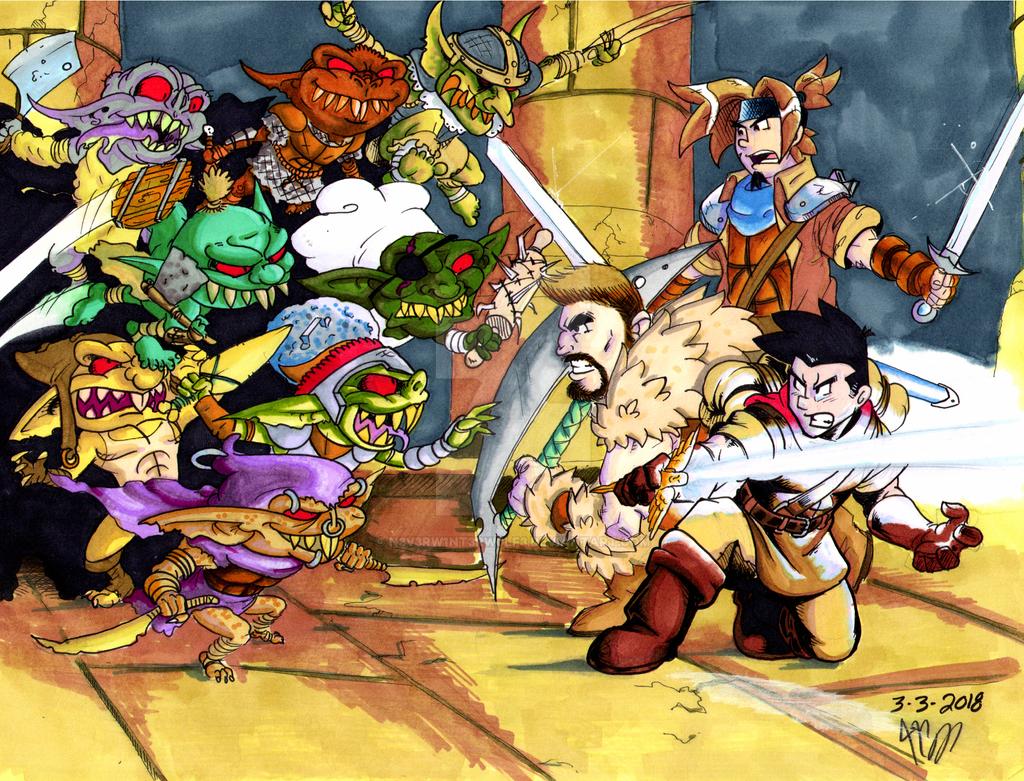 Goblin Attack by n3v3rw1nt3rw0lf3