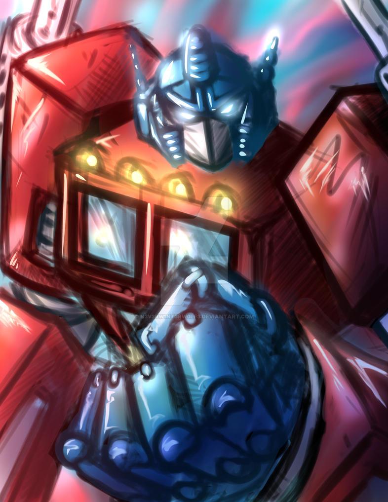 Optimus Prime by n3v3rw1nt3rw0lf3