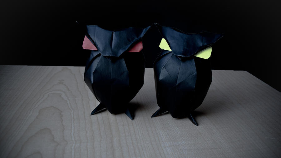 Origami Owls - Spooky Craft by MuNKichii