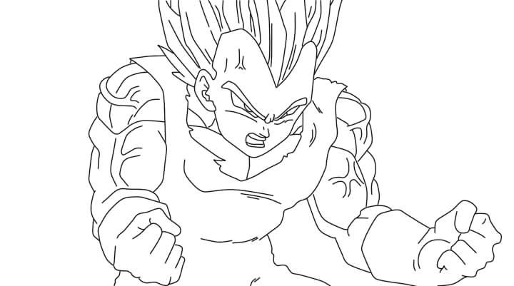 Ssj4 Gogeta Coloring Pages: Goku Vs Majin Vegeta Ssj2 Drawing