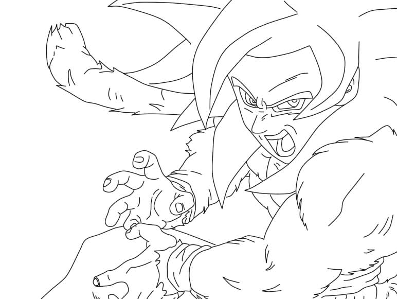 coloring pages dragonball z ssj5 - photo#26