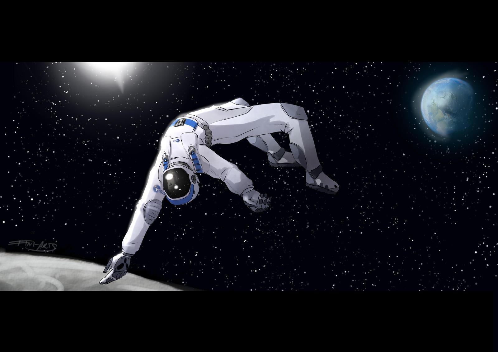 Astronaut Koen Floating In Space By Fini Arts On Deviantart