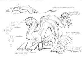 Vyrain lineart by Yoru-Dragon