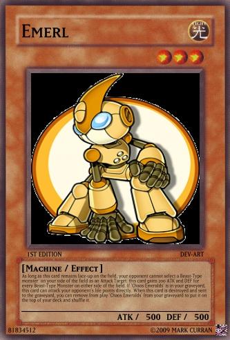 Emerl Yu-Gi-Oh Card by ~Lightshock16 on deviantART