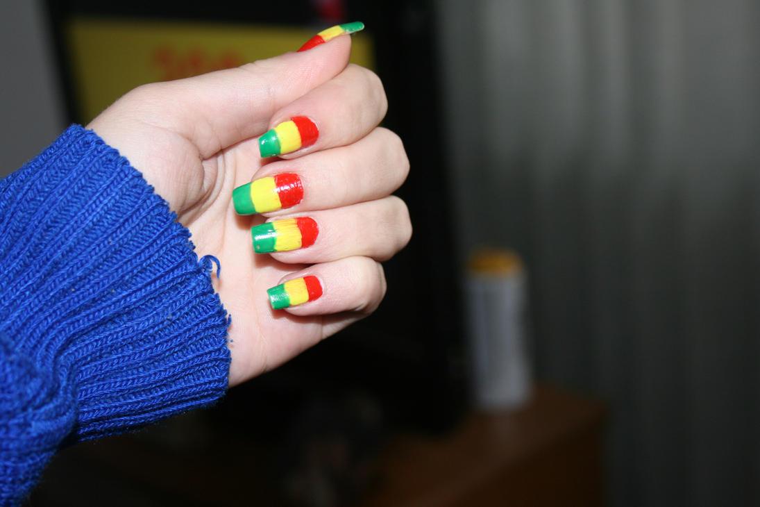 Rasta Nails by Crissuka ... - Rasta Nails By Crissuka On DeviantArt