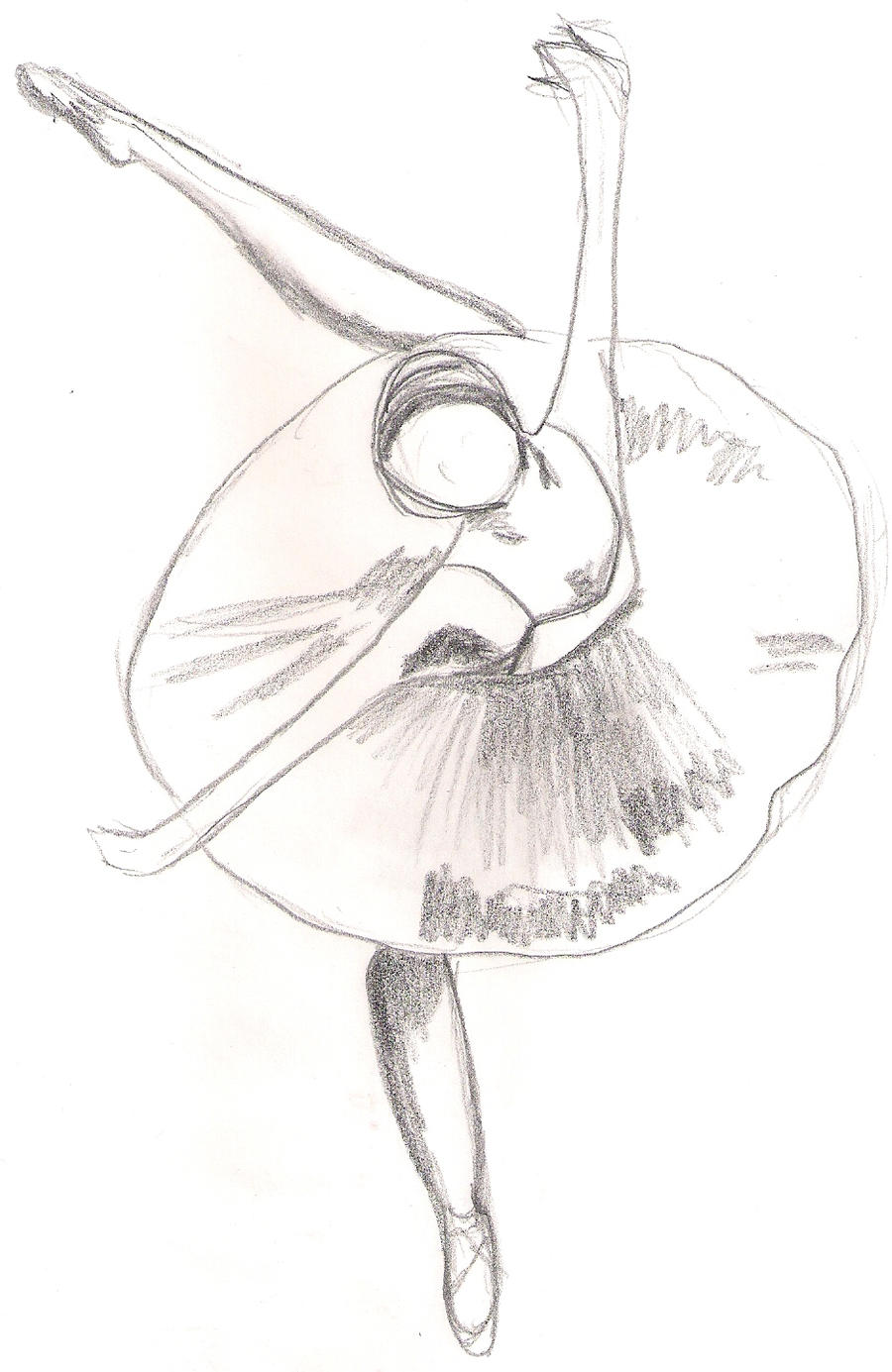 ballet shoes drawing easy - photo #42