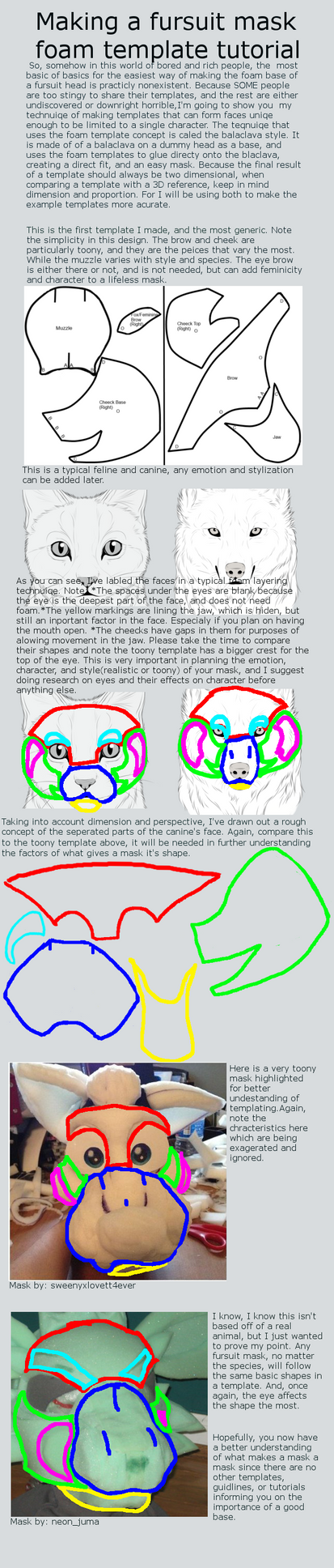 Making your own fursuit mask template tutorial by En-Seta