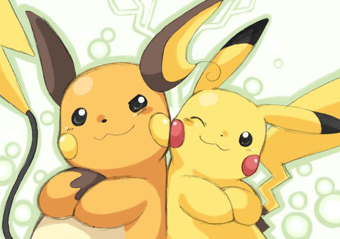 raichu e pikachu by gbrsasunaru